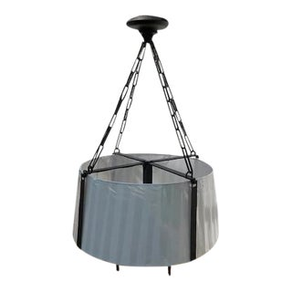 Ralph Lauren for Visual Comfort 4 Light Shaded Drum Chandelier For Sale