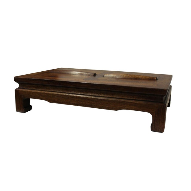 Handmade good quality Chinese rectangular footrest table, this is made of rosewood with unique simple design. It is a...