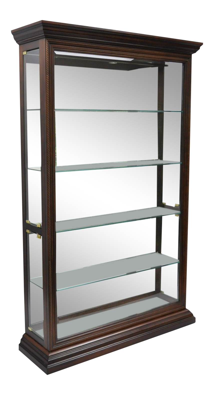 Fantastic Large Pulaski Lighted Curio Display Cabinet | Chairish OL22