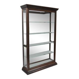 Large Pulaski Lighted Curio Display Cabinet
