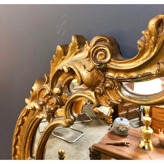 Large Vintage Gold Mirror For Sale - Image 4 of 8