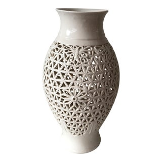 Blanc De Chine Pierced Jar For Sale
