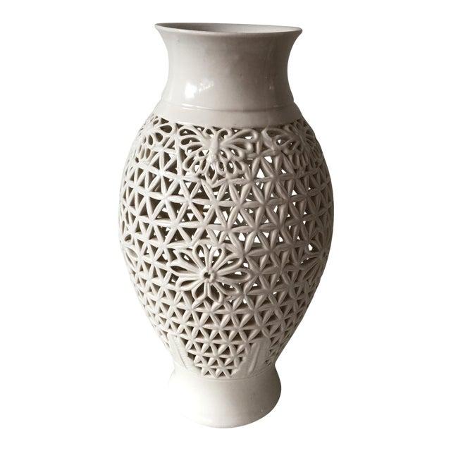 Blanc De Chine Pierced Jar For Sale