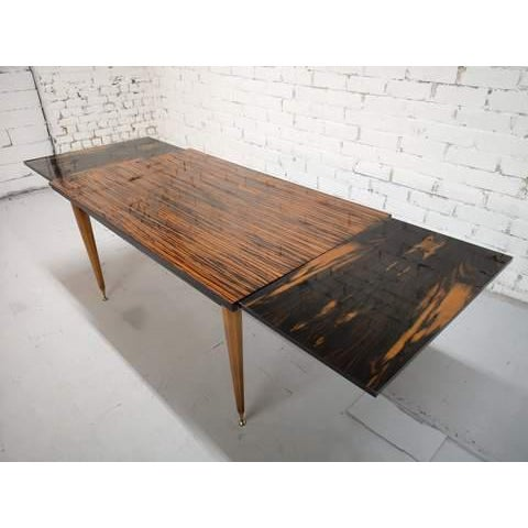 Mid-Century Modern Danish Draw Leaf Expanding Dining Table For Sale - Image 10 of 13