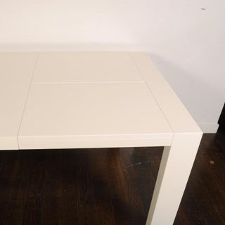 Calligaris White Lacquer Butterfly Leaf Dining Table Preview