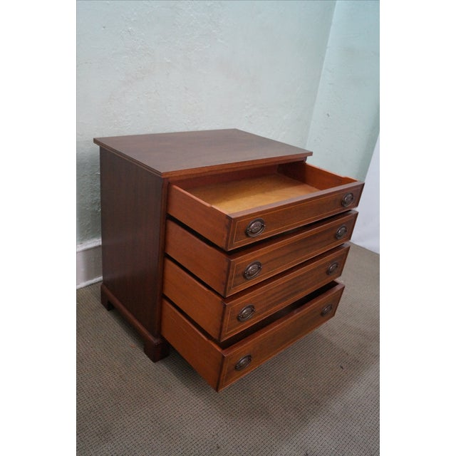 Potthast Solid Mahogany Inlaid Chippendale Chest - Image 5 of 10