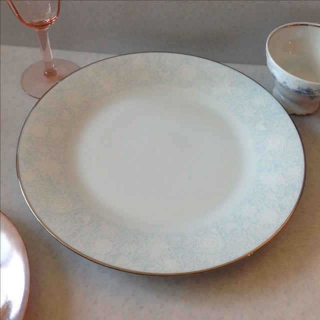 Blue Vintage Mismatched Table Setting - 6 Pieces For Sale - Image 8 of 11