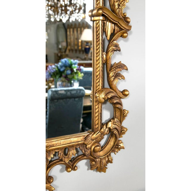 Chippendale-Style Giltwood Carved Mirrors - A Pair For Sale In New York - Image 6 of 8