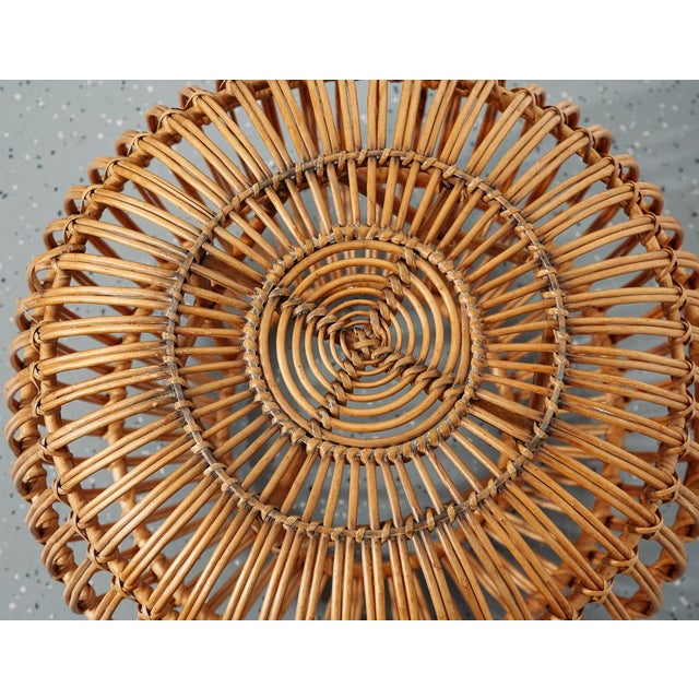 Boho Chic Mid Century Franco Albini Ottoman/Pouf/Side Table For Sale - Image 3 of 6