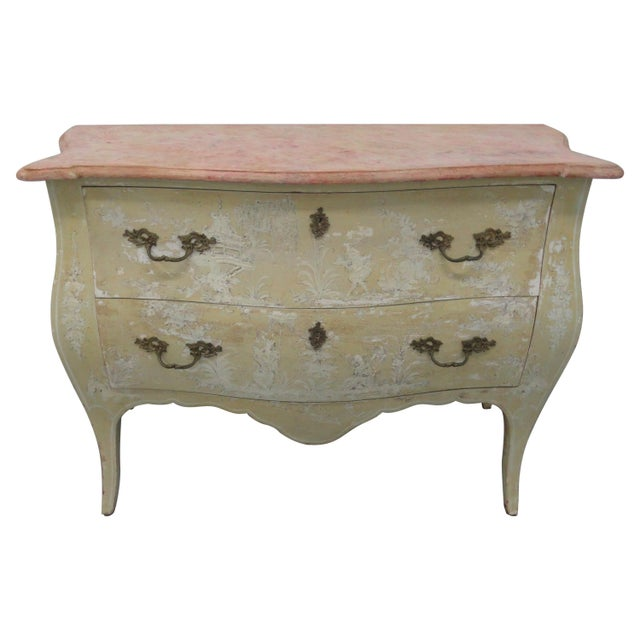 1960s Chinoiserie Painted Bombe Chest For Sale - Image 13 of 13