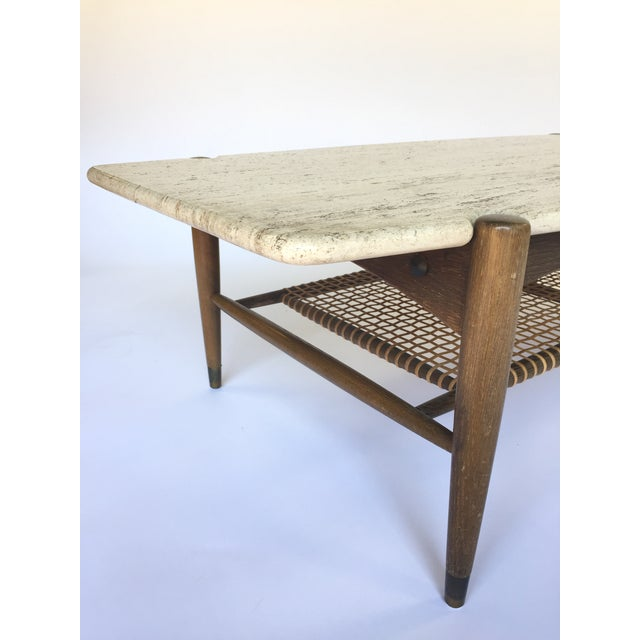 Folke Ohlsson for Dux Travertine Cocktail Table - Image 5 of 6