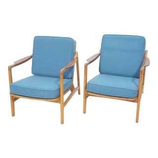 1950s Vintage Tove & Edvard Kindt-Larsen for France & Daverkosen Lounge Chairs- A Pair For Sale