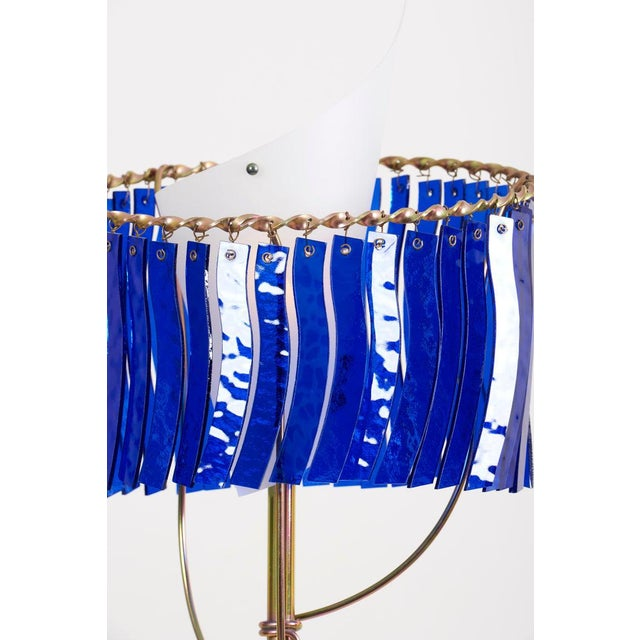 """Blue """"Priamo"""" Floor Lamp by Toni Cordero for Artemide, Italy, 1990 For Sale - Image 8 of 13"""