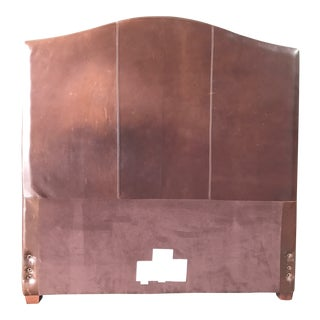 Boho Chic Full Size Leather Headboard For Sale