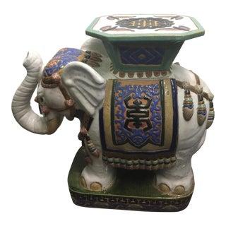 Vintage Elephant Garden Stool For Sale