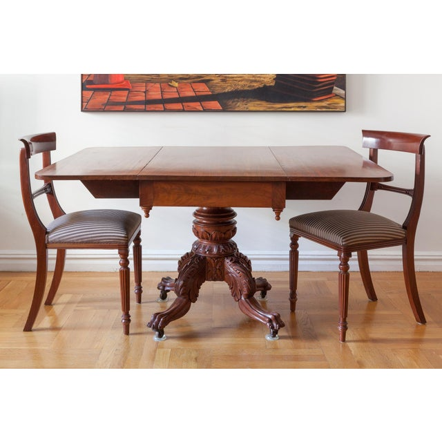 American Federal Drop-Leaf Mahogany Table Set - Image 2 of 7