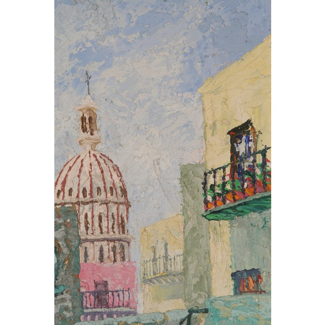 Oil Painting of European City - Image 3 of 7
