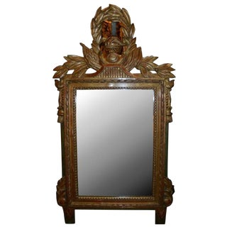 19th C. French Giltwood Mirror ...Of Small Size For Sale