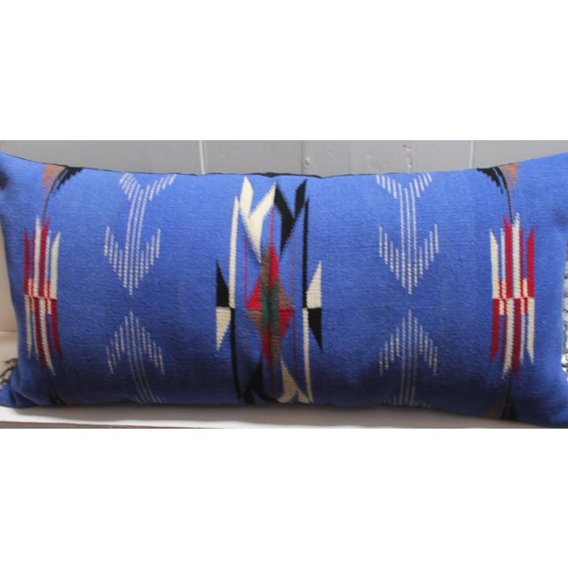 1940s Mexican-American, Chimayo-Indian Weaving Bolster Pillow For Sale - Image 5 of 5