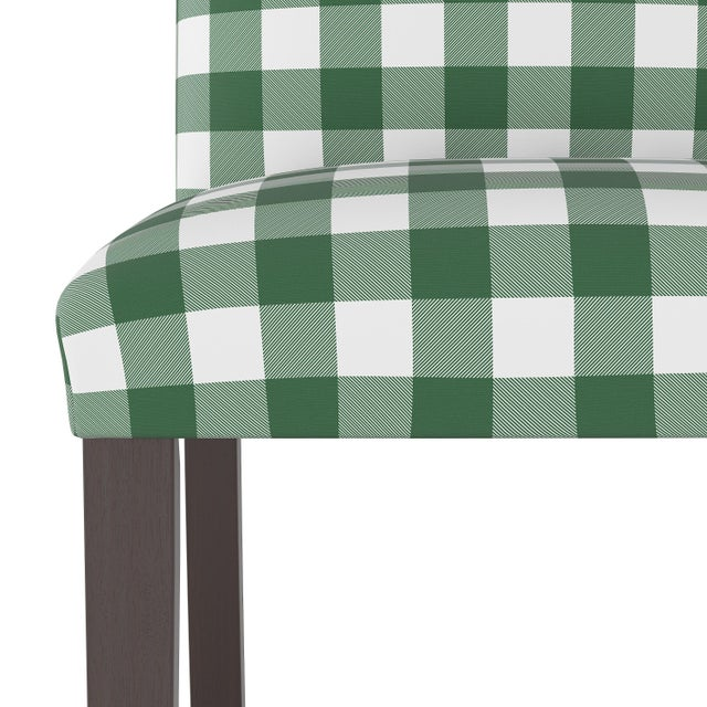 Spritely Home Dining Chair in Classic Gingham Evergreen Oga For Sale - Image 4 of 7