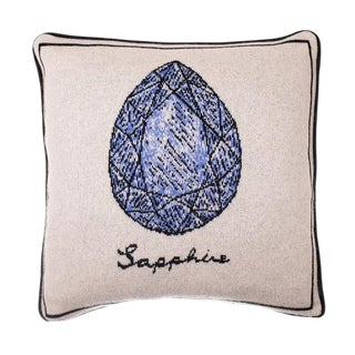 Fee Greening - Sapphire Cashmere Pillow For Sale