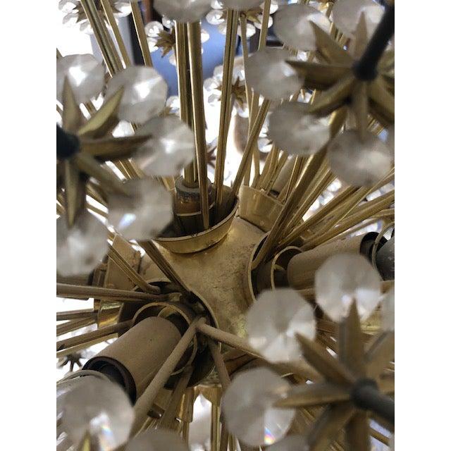 Mid 20th Century Swarovski Schonbek Sputnik Chandlier For Sale - Image 9 of 13