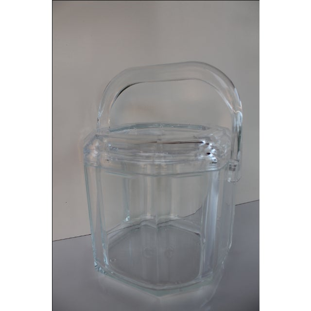 Albrizzi Style Mid-Century Lucite Ice Bucket - Image 3 of 9