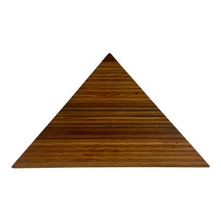 Mid-Century Solid Wood Layered Pyramid For Sale
