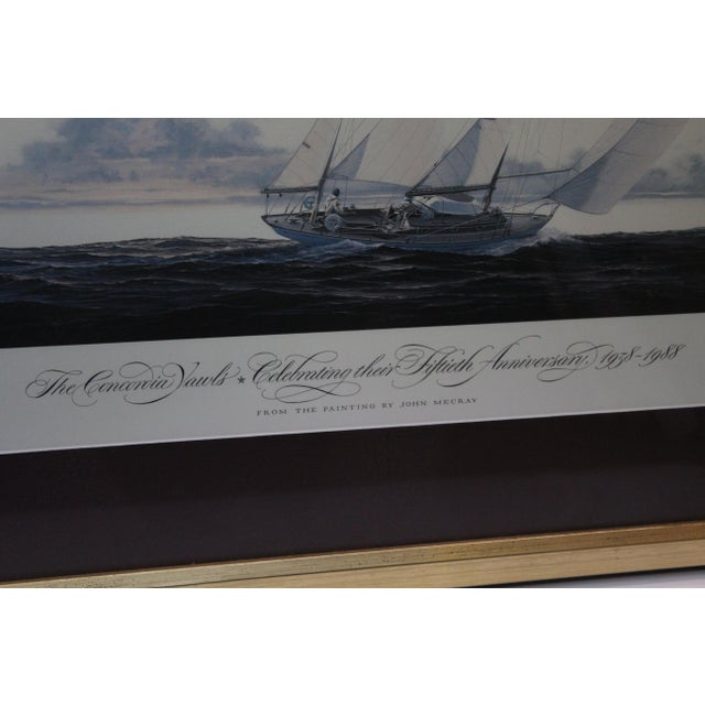 Nautical John Mecray Concordia Yawls Print For Sale - Image 3 of 9
