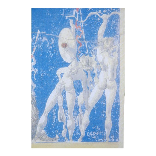 Large William Haines Canvases Drawing For Sale