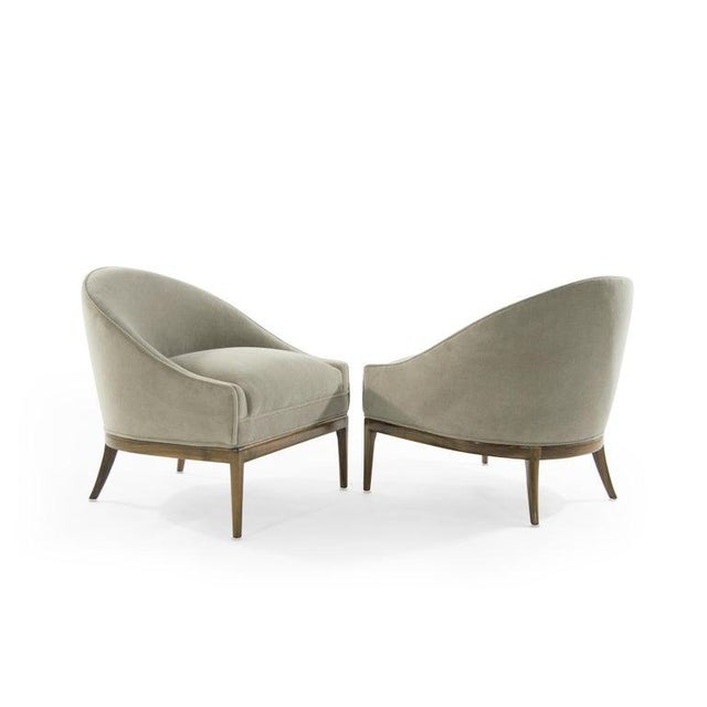 Mid 20th Century Mid-Century Modern Lounge Chairs in Mohair, 1950s For Sale - Image 5 of 13