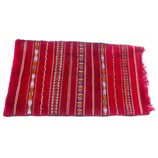 "Moroccan Red Berber Tribal Kilim Rug - 2' 10"" x 5'"