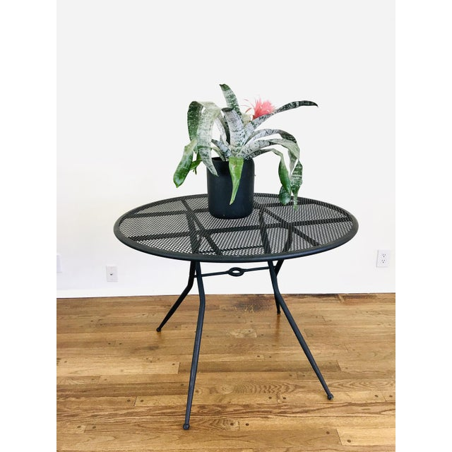 1960s Mid Century Modern Rid-Jid Folding Patio Table & 6 Chairs Set, 7 Pieces For Sale - Image 9 of 11