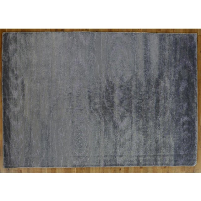 Silver Wood Grain Rug - 5′11″ × 8′8″ - Image 3 of 3