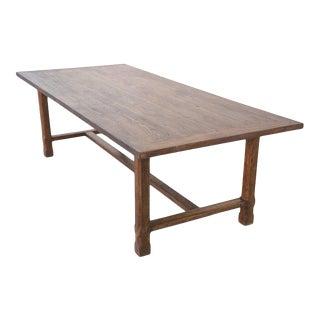 Farmhouse Custom Farm Table in Reclaimed Heartwood For Sale