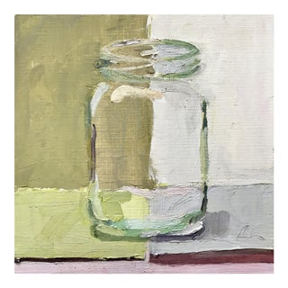Jar on Green - Original Oil Painting by Caitlin Winner