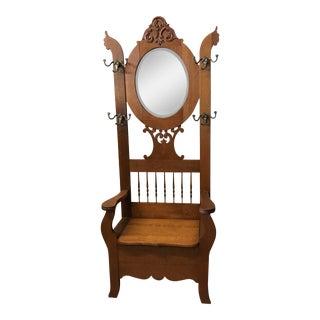 Oak Hall Tree Chair