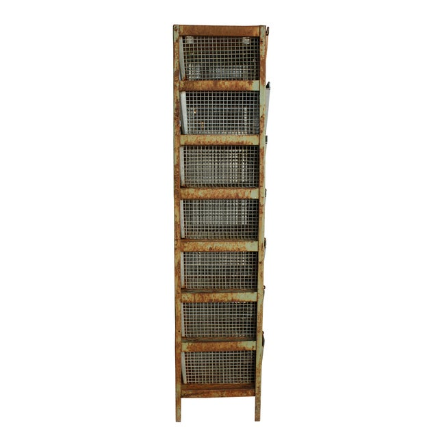 Vintage Locker Basket Unit - Image 2 of 3