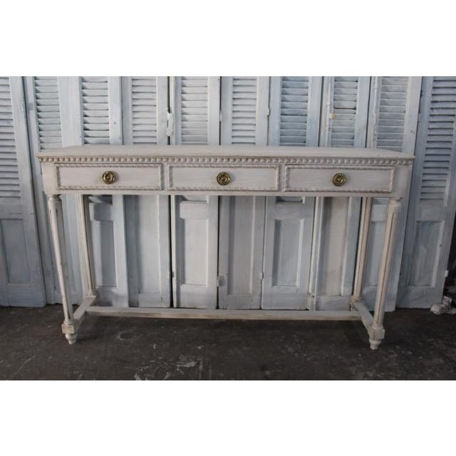 20th Century Vintage French Louis XVI Style Console For Sale - Image 12 of 12