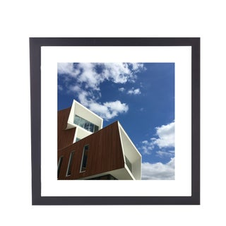 Limited Edition Framed 23 X 23 Wall Art Titled Building II by Artist B. Leeds For Sale