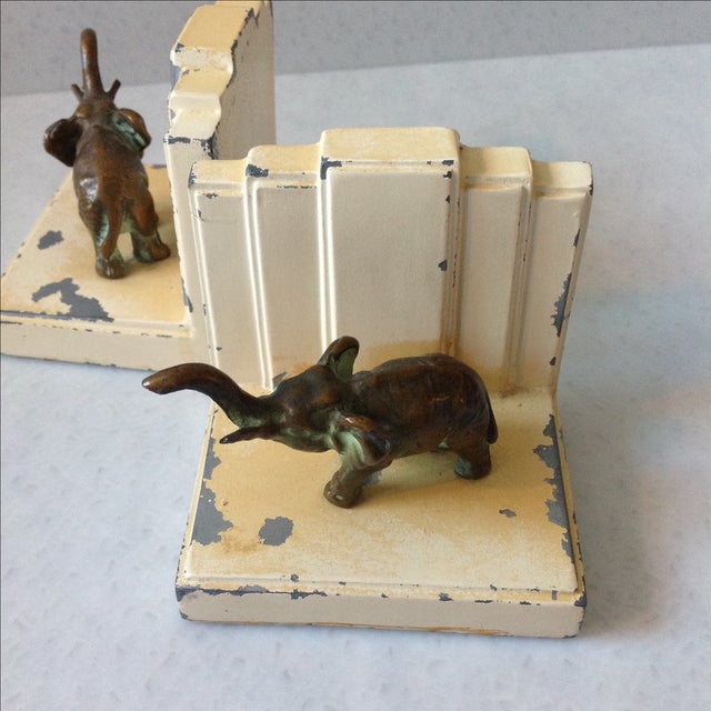 Art Deco Elephant Bookends - A Pair - Image 4 of 11
