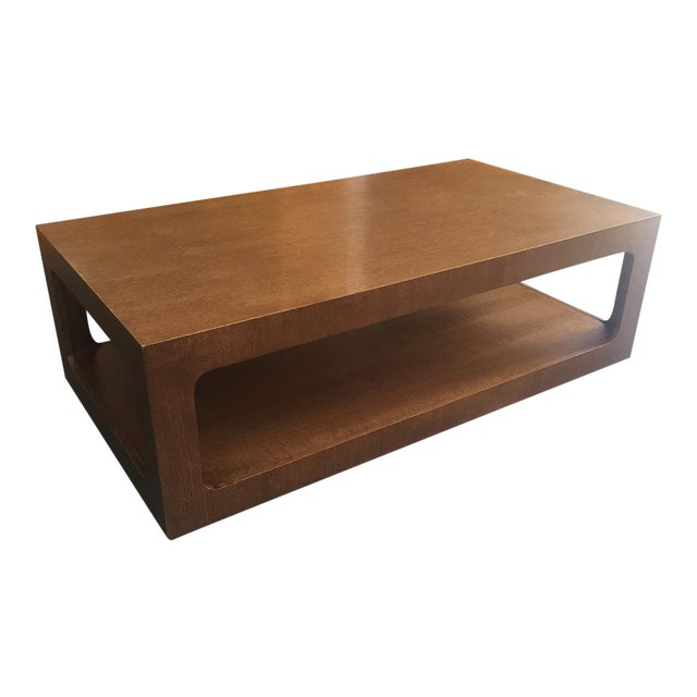 Modern Brown Coffee Table - Image 1 of 7