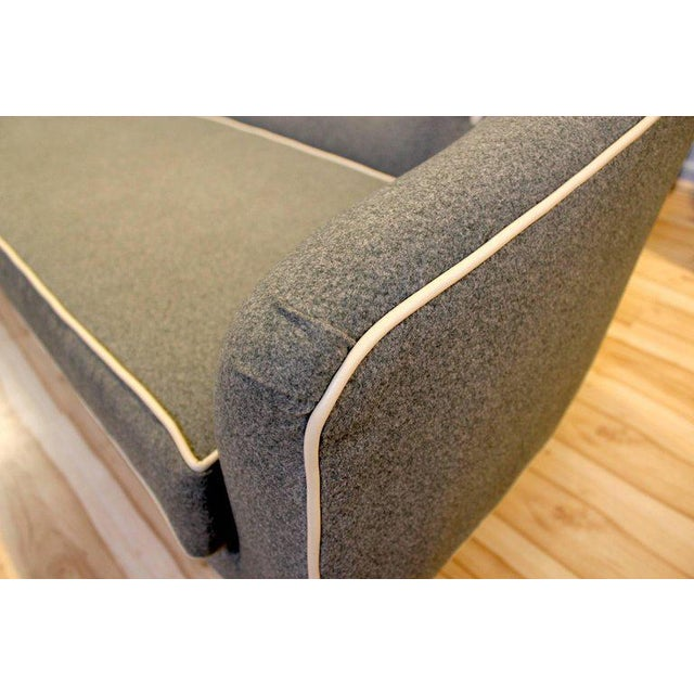 Gray 1960s Camelback Sofa For Sale - Image 8 of 9