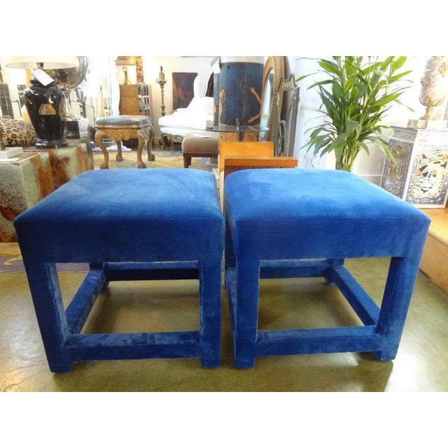 Great pair of Milo Baughman Parsons style ottomans or benches. These beautiful Mid-Century Modern Parsons stools are...