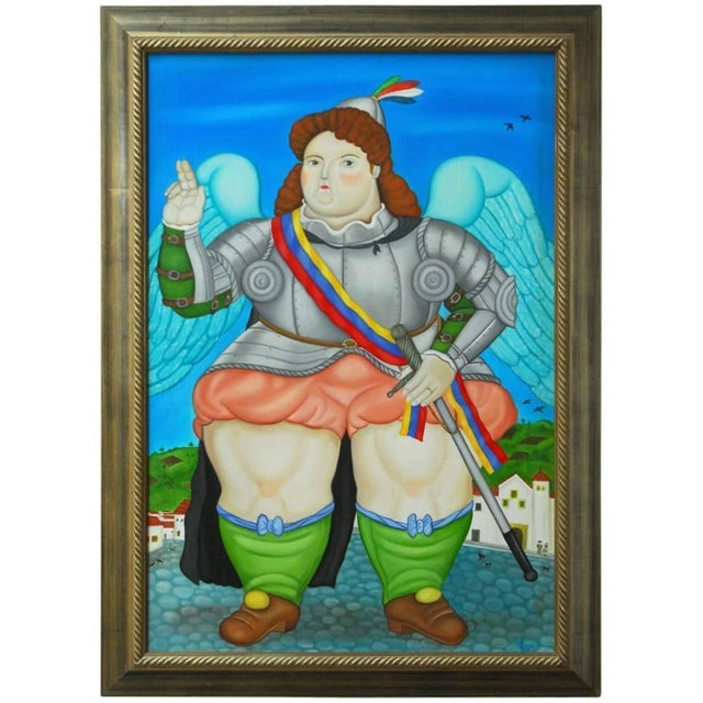 "Monumental Painting, ""The Crusader"" - Image 1 of 8"