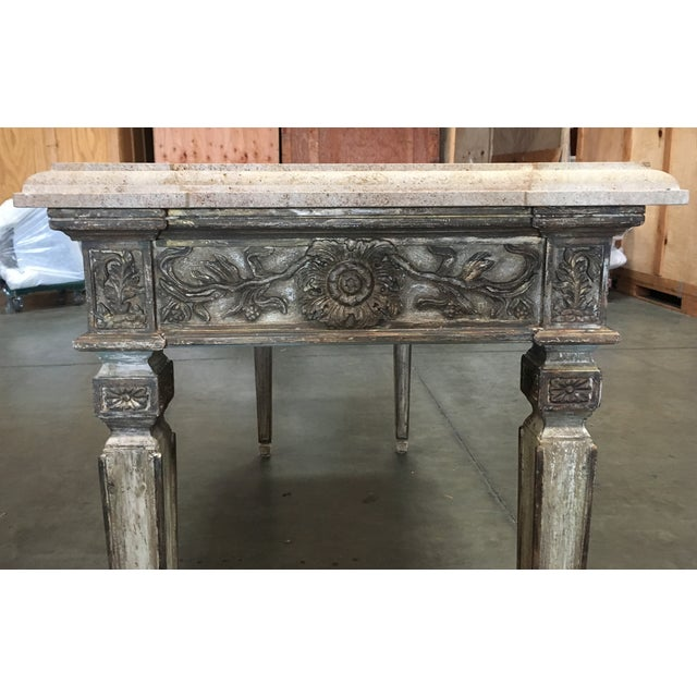 John Nelson Italian Console with Limestone Top - Image 5 of 6