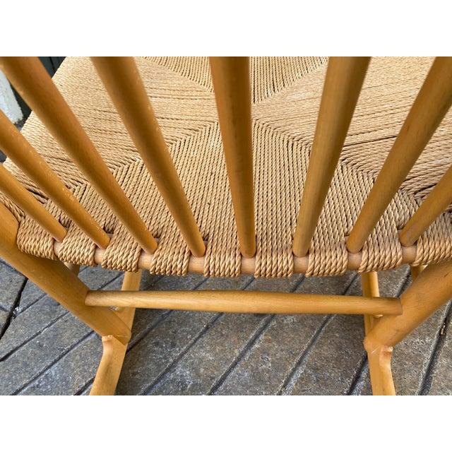 Wood 1960s Vintage Hans Wegner Rocking Chair Model J16 For Sale - Image 7 of 12