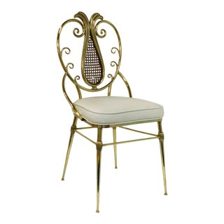 1950s Italian Brass Chiavari Chair For Sale