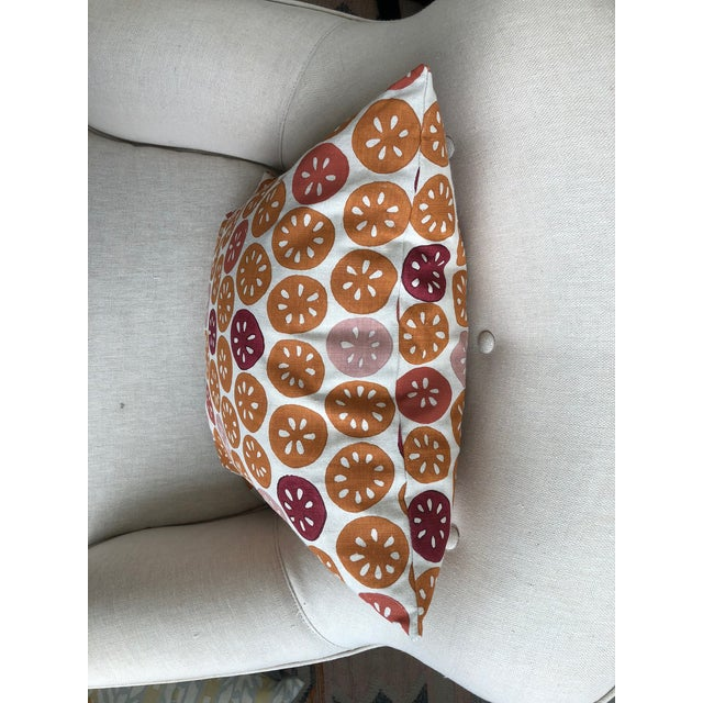 """Galbraith & Paul 18""""x18"""" Pillow with knife edge and zipper. Down insert included. Perfect condition, never used."""