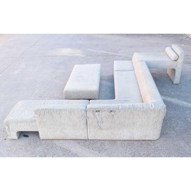 Textile 1970s Vintage Vladimir Kagan Four-Piece Omnibus Sofa For Sale - Image 7 of 10